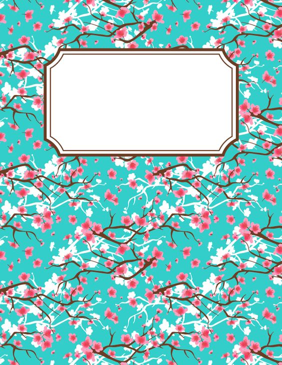 Free printable cherry blossom binder cover template. Download the cover in JPG or PDF format at http://bindercovers.net/download/cherry-blossom-binder-cover/
