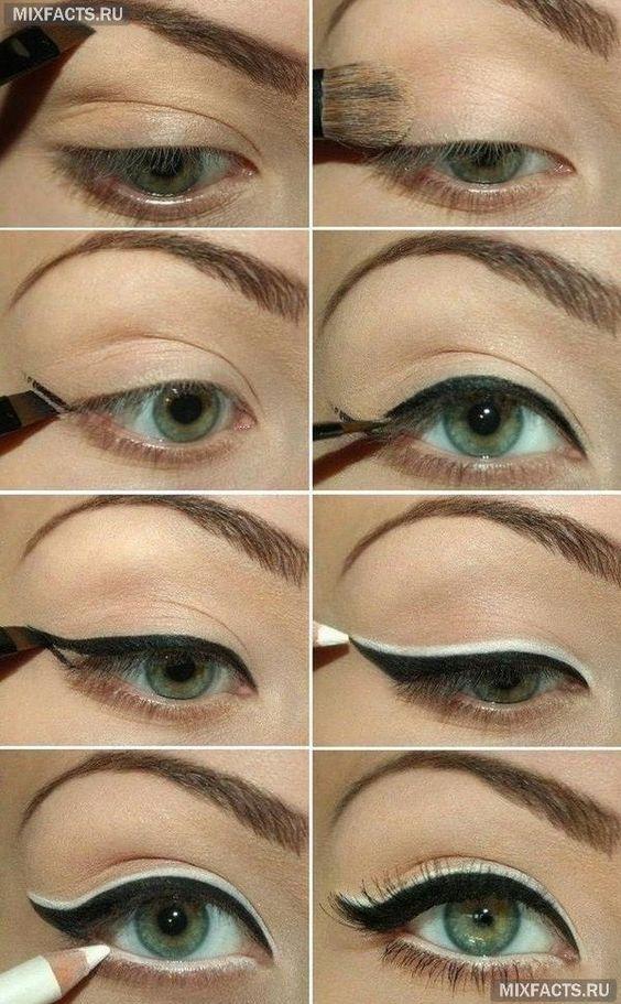 Правильные стрелки на глазах: выбираем и рисуем (фото):