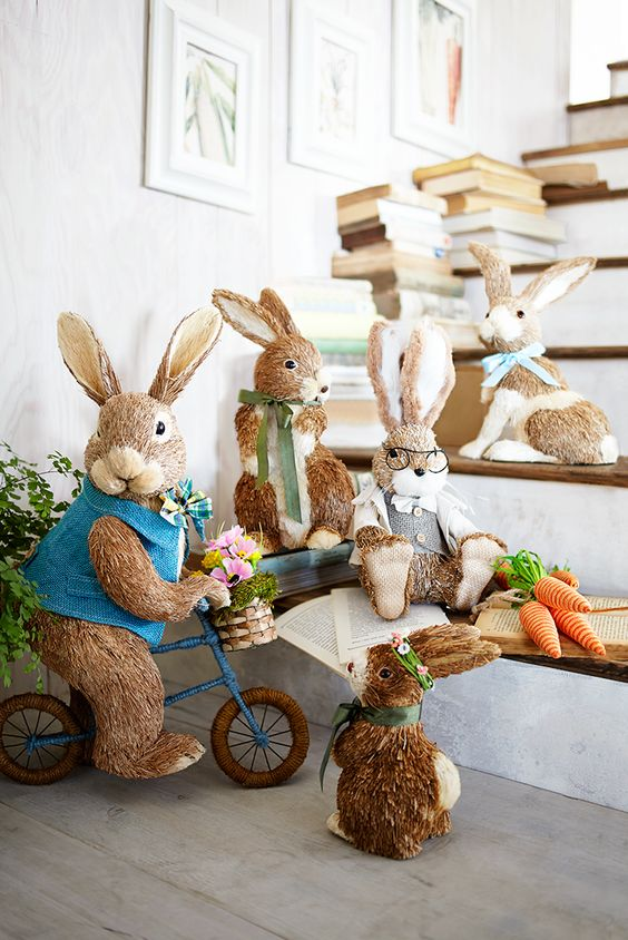 Easter bunny bunnies and once upon a time on pinterest for Rabbit decorations home
