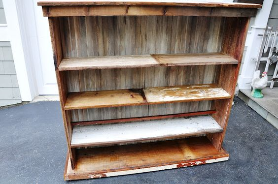 Farm house shelves from year old barn wood projects