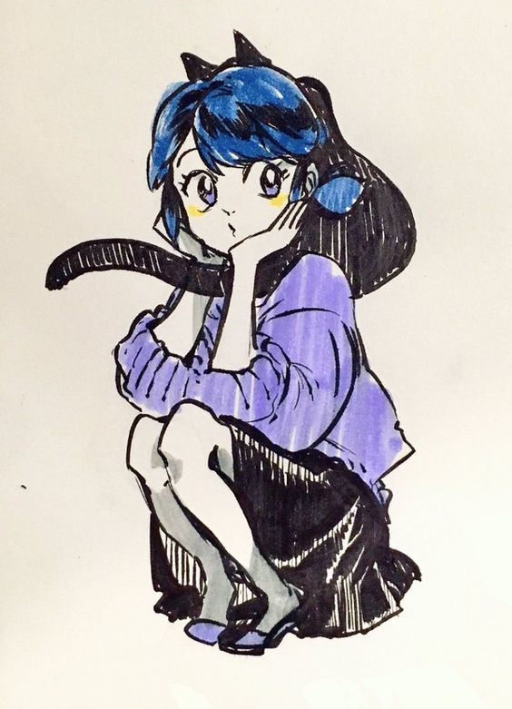 This is too cute! She looks like Usagi from Sailor Moon with that art style! :D