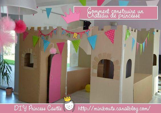 chateau de princesse en carton diy cardboard castle diy. Black Bedroom Furniture Sets. Home Design Ideas