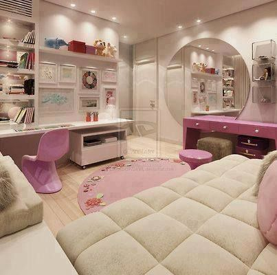 Beautiful girlie bedroom kids stuff pinterest trenza for Recamaras para ninas adolescentes