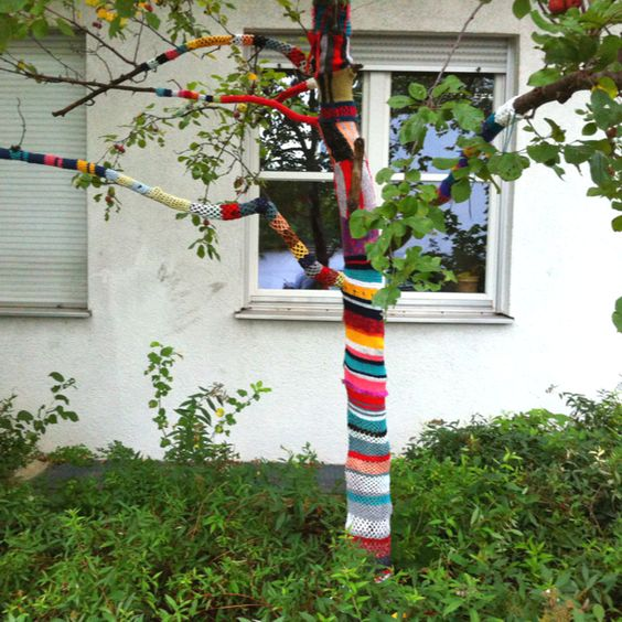 Urban knitting in München, Berg am Laim