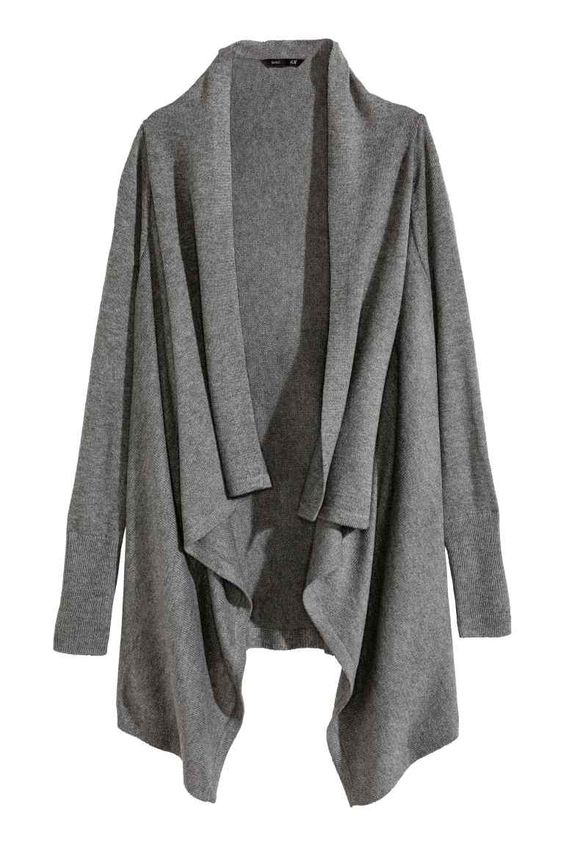 Casaco de malha drapeado | H&M