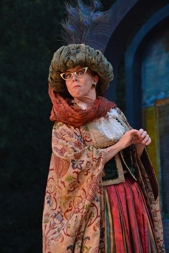 Patty Gallagher at the The Comedy of Errors dress rehearsal (6/24). Photo by Jay Yamada.