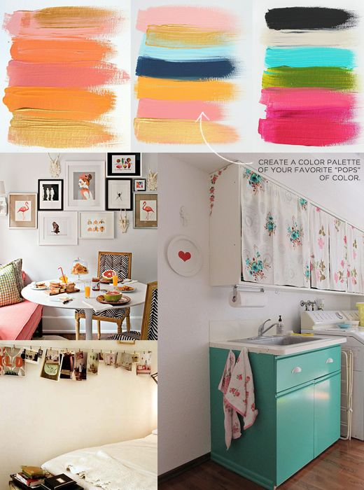 """""""Create a design palette of your favorite 'pops' of color."""""""