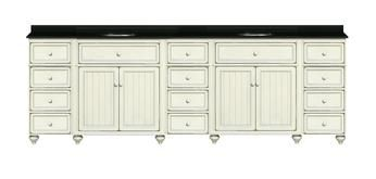 96 Inch Double Bathroom Vanity From The Modular Cottage Retrate Collection By