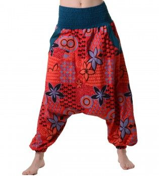 Aladin Pants Hippie Hose Goa Baumwoll Haremshose – Bild 1