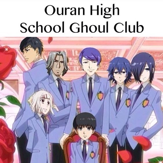OHSHC x Tokyo Ghoul (i might have laughed too hard at this)