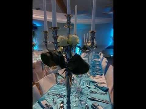 Décoration de mariage de Johanne et François en bleu lagon turquoise et ...