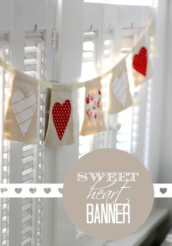 This sweet and simple banner hangs on our mantle every February! You can make this with just a few supplies.  Don't sew? No problem, you can easily use fabric glue! I started with  …