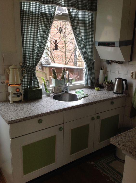 Mijn kleine keuken wordt steeds mooier! vintage, brocante, groen ...