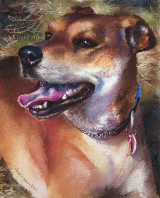 8 X 10 Custom Pet Portrait (1 Pet) from Your Photo, SOFT Pastel on Paper