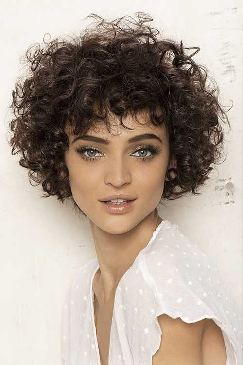 25  Short Curly Brown Hair | http://www.short-hairstyles.co/25-short-curly-brown-hair.html