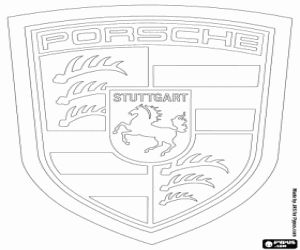 coloriage logo de porsche marque allemande de voitures de luxe voiture pinterest logos. Black Bedroom Furniture Sets. Home Design Ideas