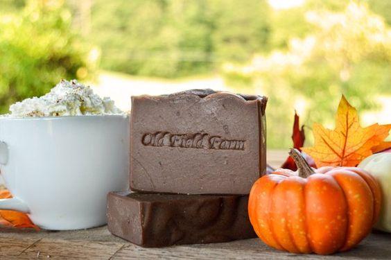 Spiced Pumpkin Latte Goat Milk Soap: Available August 29th $6