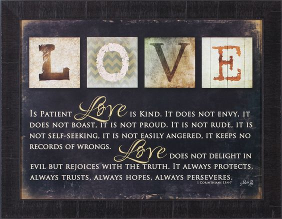 Love Is by Marla Rae Framed Textual Art