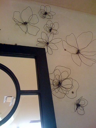 Diy Anthropologie Wall Decor : Wire flowers and anthropologie on