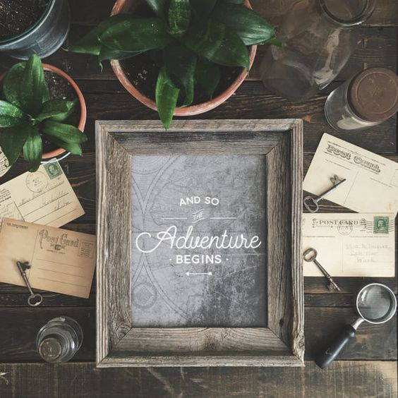 And So the Adventure Begins - 8 x 10 Print | Art print | Wall decor