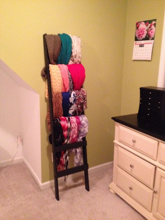 Scarf storage. I had donething like this in mind