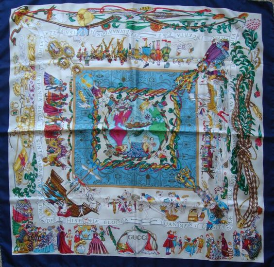 Christopher Columbus silk scarf