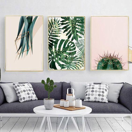 Green plant print