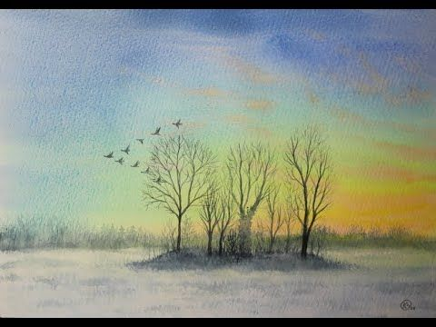 Youtube Pinturas Wasserfarben Malen Tutorial Aquarell Und