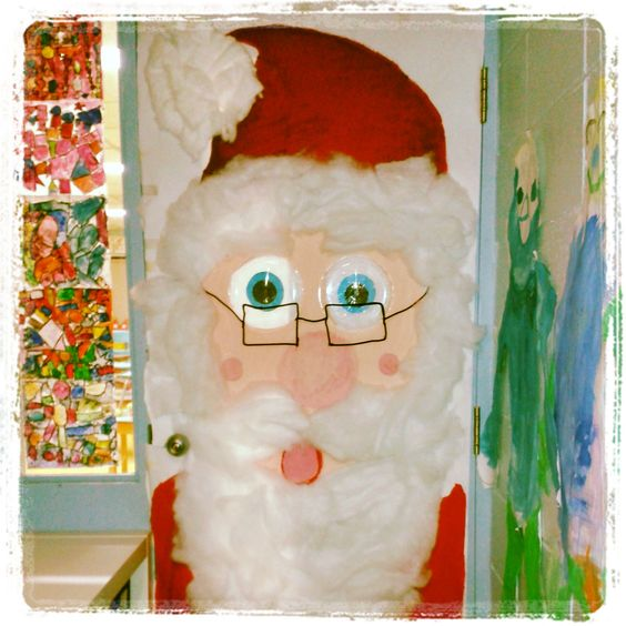 D coration de ma porte de classe cole noel idees for Decoration porte noel maternelle
