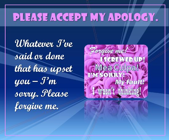 free sorry cards Accept Apology Free Sorry Ecards Greeting Cards - apology card messages