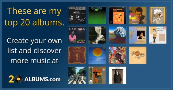 These are my top 20 albums. Click here to see my list or to create your own. Get…