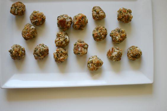 stuffed garlic and herb meatballs
