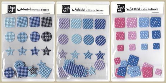 #bottoni in #feltro adesivi, un'idea simpatica