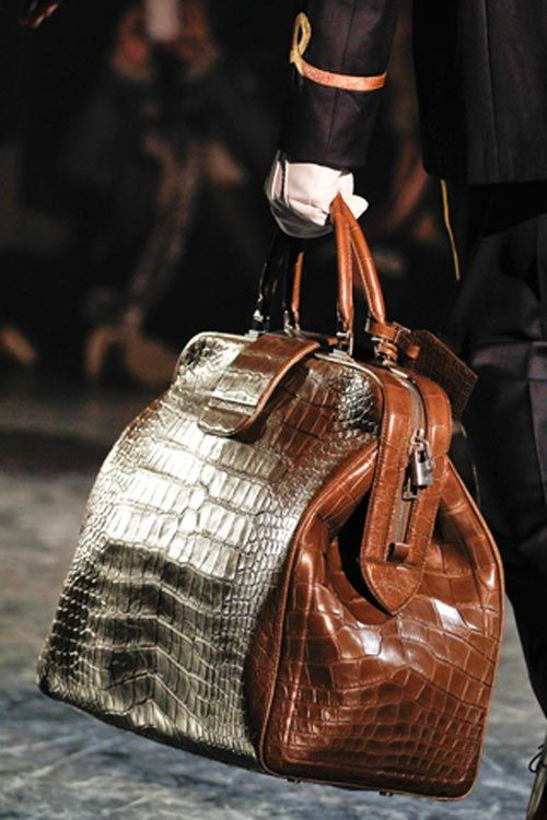 Croco Bag Louis Vuitton Fashion Week