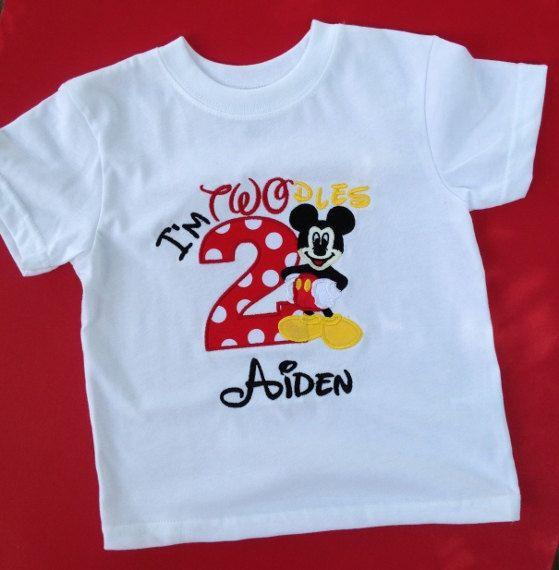 Custom I M Twodles Mickey Mouse Birthday Shirt Mickey Etsy