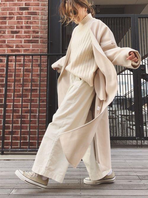 冬に着るオールホワイトコーデ|女子会もデートもバッチリ