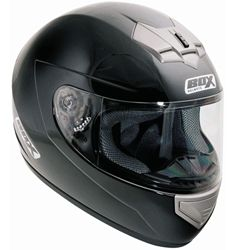 BOX BX-1 Synthetic Full Face Motorbike Helmet in Solid Colours