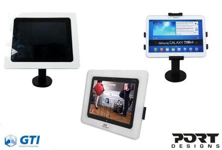 hora puedes ofrecer una solución de soportes universales o a medida para tablets. Ayuda a dar un nuevo aire al negocio de tus clientes con Port Designs.
