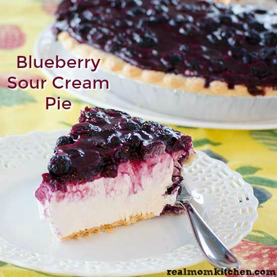 Blueberry Sour Cream Pie Real Mom Kitchen Dessert Recipe Blueberry Recipes Blueberry Cream Pies Cream Pie Recipes
