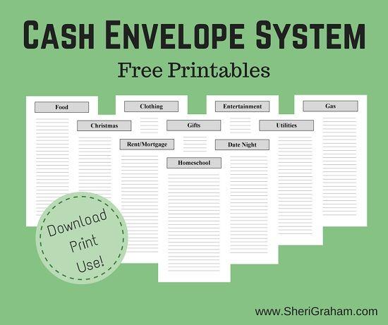 budget envelopes template