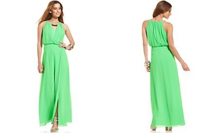 Vince Camuto Sleeveless Blouson Maxi Dress