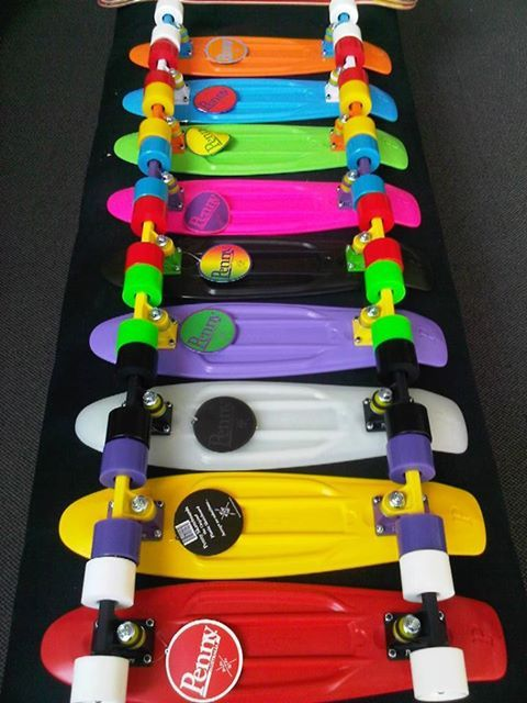 penny board, these are pretty neat skate boards. looks like it would be fun for cruising!