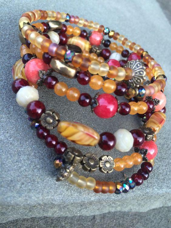 A personal favorite from my Etsy shop https://www.etsy.com/listing/246255670/fall-wrap-bracelet-autumn-gypsy-wrap