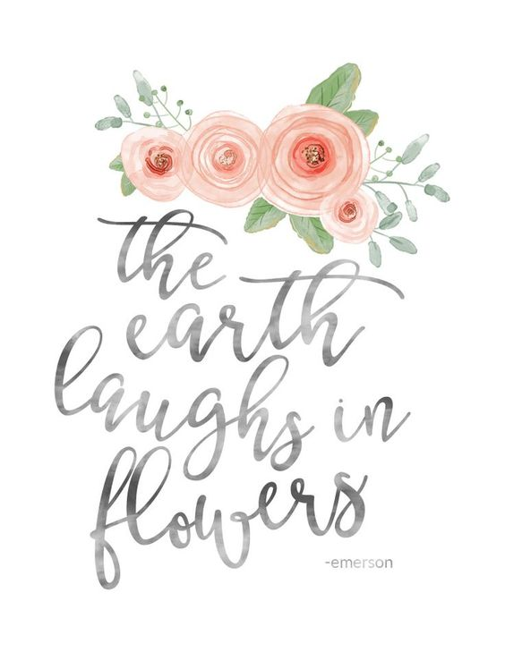 The Earth Laughs in Flowers Watercolor print