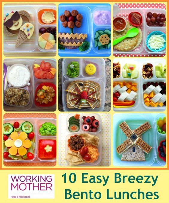 Fun #Bento Lunches that are easy to make. As featured on WorkingMother.com