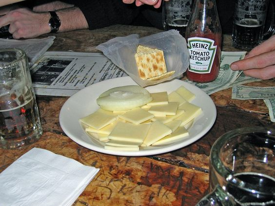 The cheese and cracker platter at McSorley's Old Ale House