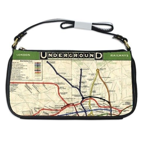 London Underground Tube Map Shoulder Clutch Bag