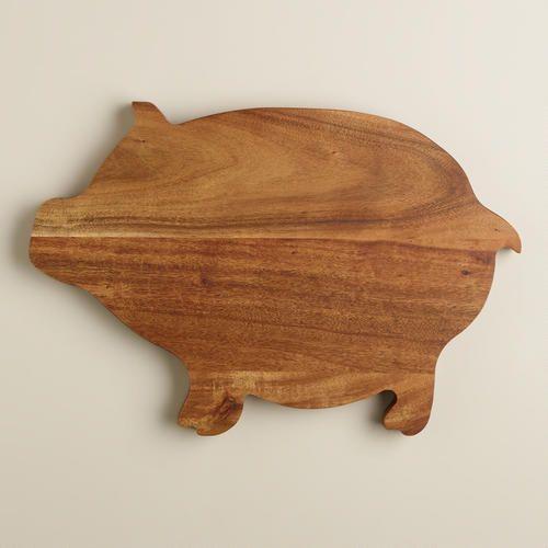 World Market, Pig Cutting Board, $15