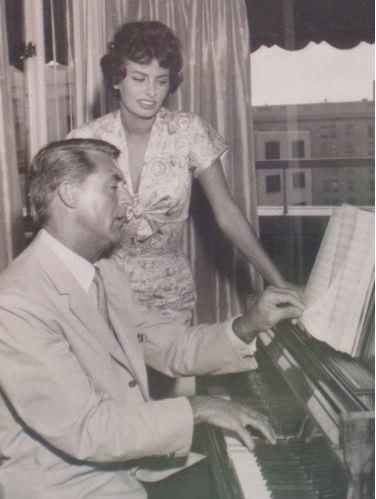 Sophia Loren and Cary Grant: