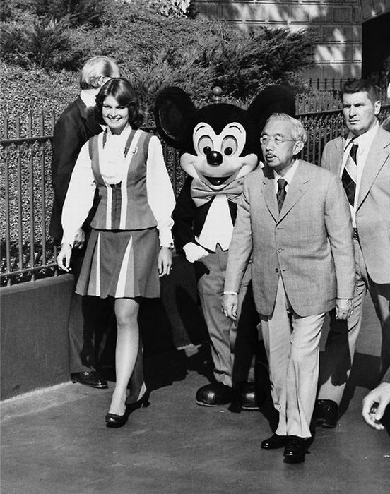 Emperor Hirohito in Disneyland